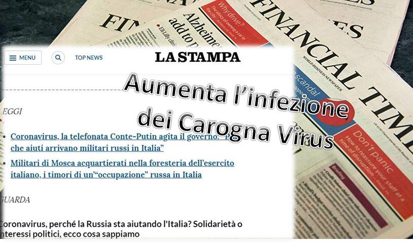 Coronavirus: gli aiuti della Russia all'Italia, strane reazioni dei soliti…….idioti. Stranamente, questo gesto di buona volontà, assolutamente gratuito, ha scatenato il malumore di qualche giornale.