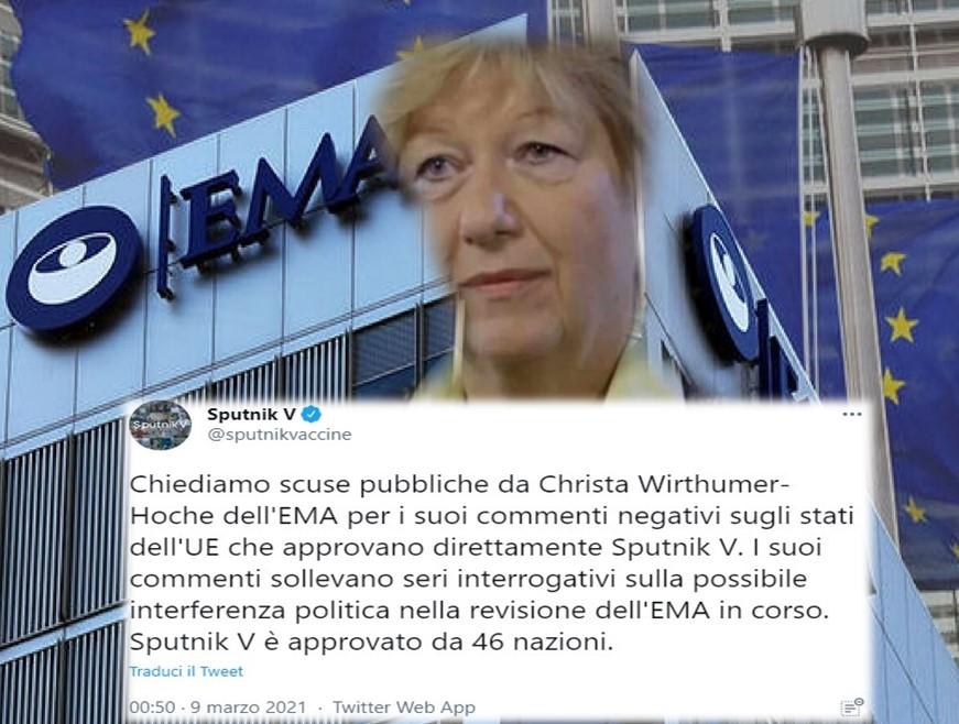 EMA HA POSTICIPATO DI MESI LA REVISIONE DELLO SPUTNIK V.
